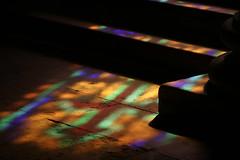 Epiphany (gripspix (Catching up!)) Tags: 20180927 bourgogne burgund burgundy givrysaôneetloire church kirche église detail stainedglasswindows glasfenster floor boden lichter lights