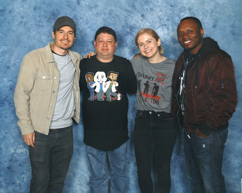 Me and Rose McIver, Malcolm Goodwin and Daniel Bonjour