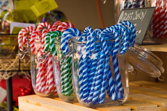 Glass Candy Canes (Rackelh) Tags: candy canes glass colours christmas market macro toronto ontario canada