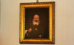 Crafty looking bald man with beard 0220 (Tangled Bank) Tags: in main house vizcaya museum gardens miami old classic heritage vintahe history vintage historical art furnishings mansion dade county florida oil painting picture