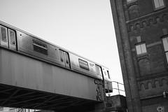 Franklin Avenue Shuttle (Zach K) Tags: franklin avenue shuttle s train strain mta nyct new york city transit publictransit bridge trainbridge subway elevatedtrain elevated brooklyn franklinavenue crown heights nyc fujifilm xt2 xf35mm14 35mm14 fuji acros angles urban black white blackandwhite blackwhite bw