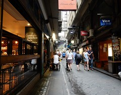 Centre Place, Melbourne (Jacqi B) Tags: jacqistravels melbournetrip2019 60thbirthdayweekend australia melbourne road people street lanes melbournelanes cafes dscn6136