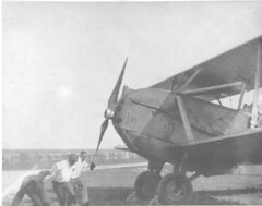 air mail image (San Diego Air & Space Museum Archives) Tags: handprop handpropping aviation aircraft airplane biplane