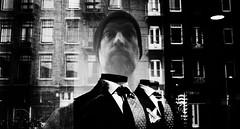 the ghost of a suburb gentleman (Gerrit-Jan Visser) Tags: amsterdam blackandwhite bnw gentleman selfie selfportrait streetphotography suburb suit tie