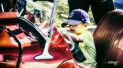 Rally Driver (dougkuony) Tags: coffeecruise hdr mg auto autorally automotive car driver rally