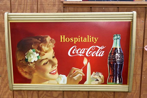 1959 Coca Cola Double Sided Cardboard Sign ($952.00)