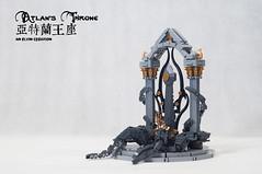 Atlan's-Throne02 (BrickElviN) Tags: lego moc dc aquaman castle ruin throne trident