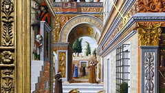Crivelli, The Annunciation, detail with arch