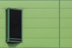 Greenish Wall (JanNiezen) Tags: color green darkgreen window abstract darkgrey minimalisme nijmegen netherlands