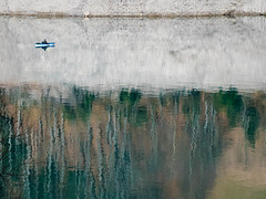 Milky water (Valérie C) Tags: boat reflection lake switzerland
