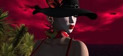 ^^Swallow^^ Ears Contest 2019 - Gargantuela 1 (gargantuela) Tags: avatar virtual gargantuela sl secondlife portrait fashion swallow laq hat earrings collar sky palmtrees sea ears makeup