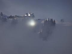 Spiegelung der Sonne auf dem Stanserhorn (Priska B.) Tags: spiegelung sonne nebel stanserhorn restaurant berg horn winter schnee nidwalden schweiz switzerland swiss svizzera innerschweiz zentralschweiz
