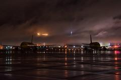 Mccarran airport foggy strip (Jslark91) Tags: las vegas lasvegas nv nevada clark clarkcounty airport fog foggy mandalay bay luxor strip d5600 tamron 18400mm nikon night aircraft airplane spirit airbus