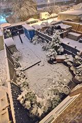 High Above Snowy Garden (AreKev) Tags: januarysnow snow snowy snowfall cold winter ourgarden backgarden garden whitchurch bristol somerset southwestengland england uk nikond850 nikon d850 aurorahdr2018 hdr aurorahdr sigma1424mmf28dghsmart sigma 1424mm 1424mmf28dghsm