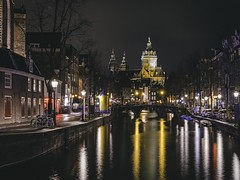 Amsterdam Canals - De Krijtberg (Oash_Dany) Tags: amsterdam canals de krijtberg holland longexposure nightshot bruxelles belgium reflection night shadows sonyalpha coast clouds cloudy beautiful colors sony outside seaside cloud color paysage waves nuvole day dynamic long exposure roccia