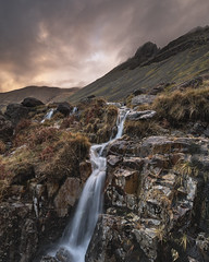 Gable falls (www.peterhenryphotography.com) Tags: wasdale water river beck waterfall greatgable morning sunrise colour light rugged mountains lakedistrict cumbria