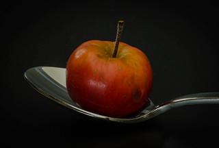 A tiny apple
