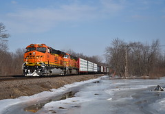 Barstow Froze Over (Jacob Narup) Tags: train trains railfan railroad railfanning bnsf bnsfrailway bnsfbarstowsub barstow barstowil barstowillinois illinois ice bnsf6344