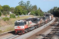 A Soon Double (Henry's Railway Gallery) Tags: maitland newsouthwales australia au sct007 sct006 csr004 sctclass emd diesel gt46ace sctlogistics freighttrain 7mb9 mb9 eastmaitland