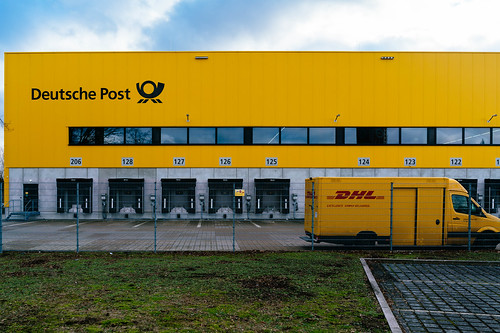Deutsche Post logistic center in Berlin Charlottenburg up close