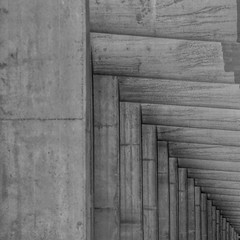 Abstract Concrete (2n2907) Tags: geometry geometric graphic pattern perspective blackandwhite blackwhite abstract architecture intersecting lines concrete