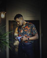 48 hours in LA (ml_king) Tags: los angeles boston black beautiful beauty boy background red street palm portrait tree tone mitakon melanin mid muscles sony shirt 50mm f095 a7ii a73 art