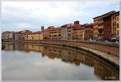 Italy - Pisa - Lungarno Pacinotti (ottilia dozsa) Tags: italy olaszorszag pisa water viz folyo river arno ycabd tuscany toszkana xffssgp city