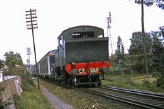 CP 094, Lousado, 21 April 1968 (filhodaCP) Tags: cp máquinaavapor comboioavapor linhadominho caminhosdeferro comboiosdeportugal steamlocomotive carvão