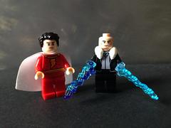 Shazam VS Dr Sivana (bricksfreaks) Tags: bricksfreaks bricks gotham dc dccomics custom comics customlego customminifigures customfigures minifigures minifigs lego superheroes supervillains figures freaks shazam drsivana