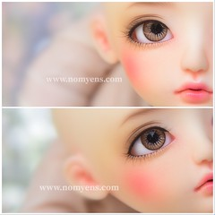Resin eyes [ Brown tone ] (♥..Nomyens..♥) Tags: bjd balljointdoll toy doll custom faceup paint painting painted repaint handmade nomyens nomyenscom resineyes dolleyes