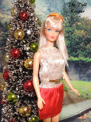 Merry Christmas to All! (The doll keeper) Tags: 1967 vintage mod tnt champagne blonde barbie doll christmas wishes