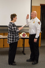 Swearing in the New Chief (Lester Public Library) Tags: tworiverswisconsin tworivers tworiversfiredepartment scottschneider firechiefscottschneider retirementparty retirement firedepartment lesterpubliclibrarytworiverswisconsin readdiscoverconnectenrich