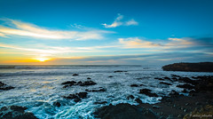 The Watcher (dennisjohnston17) Tags: cambria california beach waves observer clouds crashing blue moonstone seascape