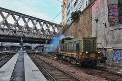 BB(6)64030 + SIM-11 - ME100 - Train n°811483 Paris-Est > La Ferté-Milon (nicolascbx) Tags: bb64030 sim11 switchinspectionmeasurement measurementtrain sncf sncfréseau sncfinfra infra train parisest 811483 lafertémilon eurailscout messzug zug old railway paris vigirail smoke locomotive wagon bb63500