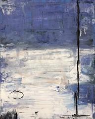 lotto 1, 2018 (keezyarts) Tags: keezy art painting oil acrylic blue white circle line abstract lake sky impressionism modern studio work