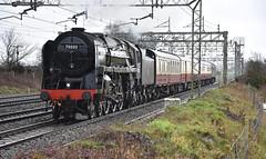 Sleety Brit (wwatfam) Tags: 70000 britannia class standard pacific steam locomotive riddles british railways trains railroad transport chorlton cheshire england britain wcml
