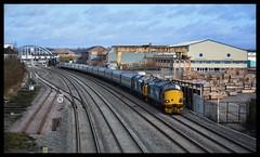 37218/37409/68007 (Lewis_Hurley) Tags: pathfinder doubleheader train railway derby 1z22 diesel loco blueboys blueboyslocofest charter railtour scotrail britishrail br largelogo directrailservices drs cat valiant 68007 class68 68 tractor lordhinton 37409 37218 class37 37