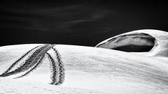On a distant Planet... (Ody on the mount) Tags: abstrakt anlässe berge dolomiten em5 himmel italien mzuiko1250 omd olympus schnee schneeschuhtour sennes spuren südtirol urlaub winter abstract bw monochrome sw snow traces