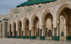 Hassan II Mosque courtyard, Casablanca (Bokeh & Travel) Tags: hassanii mosque casablanca morocco africa arches islamic islam muslim kingdomofmorocco atlantic ocean promontory green marble architecture beautiful art