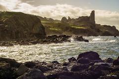 Dunure Castle - (Industar 50-2, 50mm, f8) - 2019-02-10th (colin.mair) Tags: castle dunure industar502 lens m42 manual rocks russian sea ussr waves f8 stormy