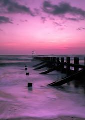 Sunrise long exposure (PeskyMesky) Tags: aberdeen longexposure aberdeenbeach sunrise sunset wave water sea scotland ocean landscape sky cloud canon canon5d eos