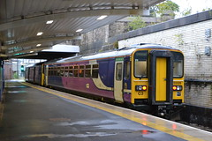 Northern Super Sprinter 153328 (Will Swain) Tags: station 20th september 2018 greater manchester city centre north west train trains rail railway railways transport travel uk britain vehicle vehicles england english europe salford crescent bolton northern super sprinter 153328 class 153 328