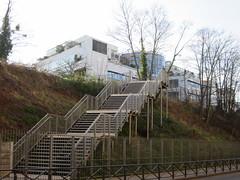 Escalier d'accès à la Petite Ceinture du XVe, place Balard, Paris XVe (Yvette G.) Tags: randonnée paris paris15 architecture escalier ceintureverte 1mois1thème