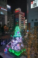 Magia Record Holy Christmas 2018 : Xmas tree at Akihabara UDX (rhythmsift) Tags: japan tokyo akihabara canon eoskissx5 efs1018mmf4556isstm lightroomclassiccc81 magiarecord xmas illumination