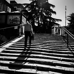 Stairs in Perugia (PGKreling) Tags: approved perugia italy stairs urban street streetphotography blackwhite bw contrast