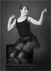 Sammy-64 (AndyG01) Tags: blackandwhite mono monochrome stockings tutu fun pretty girl highheels
