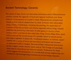 Mesoamerican Ceramic Technology (Serendigity) Tags: california lacma losangeles losangelescountymuseumofart mesoamerican usa unitedstates art artgallery ceramic sign technology unitedstatesofamerica