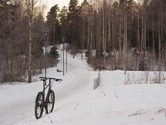 2019 Bike 180: Day 50, March 13 (olmofin) Tags: 2019bike180 finland espoo bicycle polkupyörä snow aamu dawn lumi path pyörätie mzuiko 45mm f18