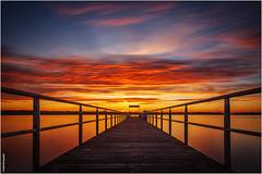Kitzeberg Sunset (geka_photo) Tags: gekaphoto kitzeberg schleswigholstein deutschland sonnenuntergang dampferanleger seebrücke himmel wolken rot langzeitbelichtung