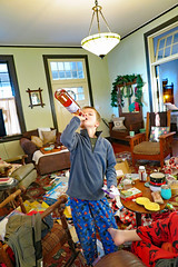 christmaswine2018 (FAIRFIELDFAMILY) Tags: christmas 2018 jason taylor grant carson michelle winnsboro sc south carolina present presents family living room house interior arts crafts craftsman bungalow antique fireplace rug lego legos child boy young old children boys mother son fairfield county vintage tree morris chair oak mantle piece